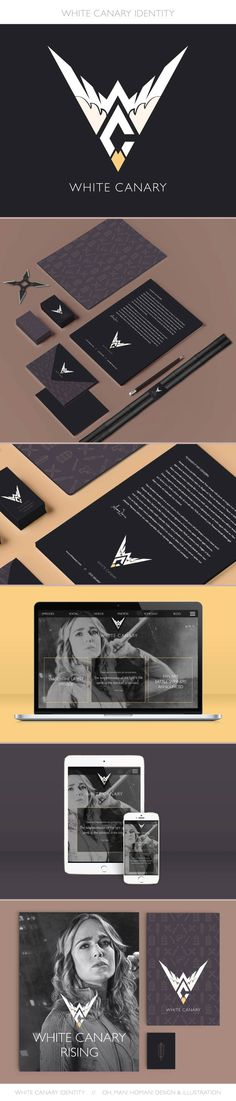 White Canary Logo Design – Part 2 of a personal project: branding for DC's White Canary. White Canary, Logo Design, Graphic Design, Branding, Logos, Projects, Designer Fonts, Log Projects, Brand Identity