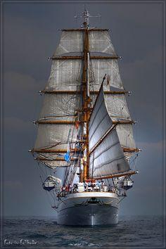 Tall Ship Gorch Fock, German Navy | by Thomas Deter, via 500px http://en.wikipedia.org/wiki/Gorch_Fock_(1958)