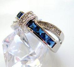 Promise Ring for Girlfriend blue