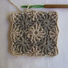 Catherine's Wheel stitch, granny square tutorial