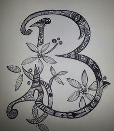 Zentangle-Letter B