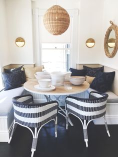 Dining nook inspiration courtesy of Serena & Lily's Westport Design Shop