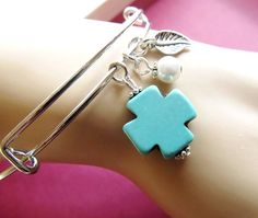 Expandable Cross Bracelet Religious Bangle by 4Everinstyle on Etsy