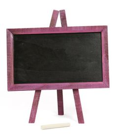 Perfect for table signage!!!  I just ordered one ... Purple Framed Chalkboard by Dennis East International #zulily #zulilyfinds