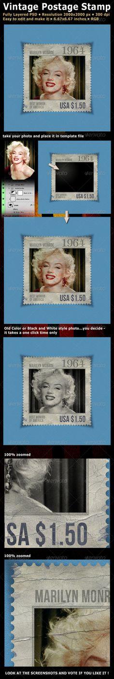 Vintage Postage Stamp $3.00