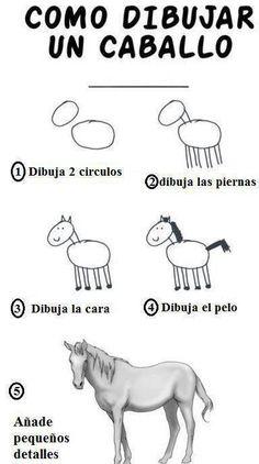 Twitter / MejoresTwits: Como dibujar un caballo