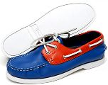 Orange and Blue Leather Deck Shoes at The Gator Shop