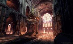 for their free mobile fantasy RPG game project - Dromor. Milan Cathedral, Cathedral Windows, Cathedral Church, Cathedral Mirror, Fantasy Rpg Games, Fantasy Art, Cathedral Tattoo, Cathedral Wedding Dress, Christian Motivation