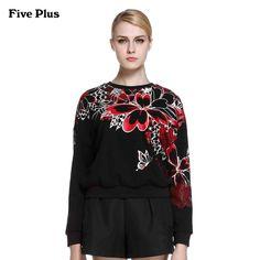 Five Plus2016新女春装棉质印花卫衣款宽松圆领长袖T恤2HL1020170-tmall.com天猫