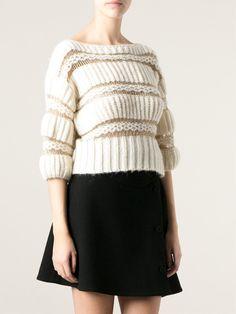 Blumarine Open Knit Detail Sweater - First Boutique - Farfetch.com