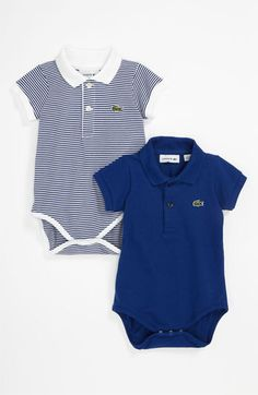 Lacoste Bodysuit (2-Pack) (Baby) available at #Nordstrom