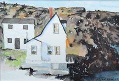 "Peter Jackson, ""White Cliff House, Brigus"", watercolour, 8"" x 6"""
