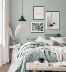 Gallery Wall Inspiration - Shop your Gallery Wall Bedroom Green, Room Ideas Bedroom, Home Decor Bedroom, Bedroom Wall, Bedroom Furniture, Marble Bedroom, Bedroom Signs, Bedroom Apartment, Bedroom Color Schemes