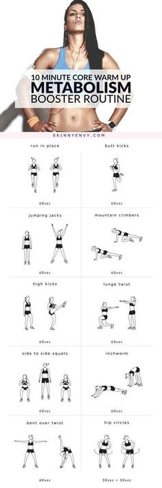 Try this! Metabolism booster workout routine. It's only 10 minutes & a sure…