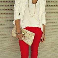 Joes Jeans Red Skinny Jean