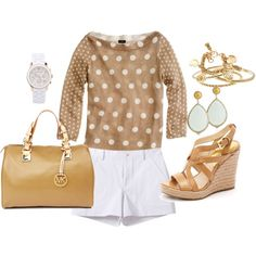 Pretty late summer outfit...perfect with a gauzy scarf or denim jacket