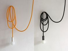 The striking Loop Line ceiling lamp by Pani Jurek is a long rope cable attached to a glazed ceramic socket and ceiling rose, allowing you to hang your light around the room. Ceiling Rose, Ceiling Lamp, Line Light, Light Up, House On The Rock, Lighting Store, Home Living, Glazed Ceramic, Design Awards