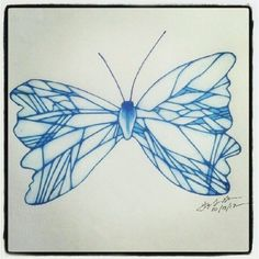 100 Butterflies in 100 Days, Day 13, Medium: Color Pencil