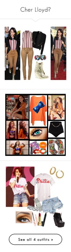 """Cher Lloyd♥"" by queenloxisminebitch ❤ liked on Polyvore featuring Topshop, Monkee Genes, ASOS, Tarina Tarantino, Marni, Kenneth Jay Lane, Fantasy Jewelry Box, River Island, Bite and MAC Cosmetics"