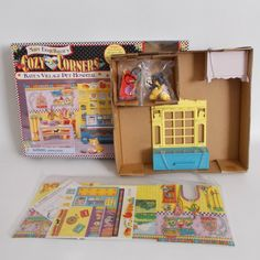 Mary Engelbreit Cozy Corners Kate's Village Pet Hospital Doll Furniture Playset 38003 Playmates 1997 No Doll Vintage Rocking Chair, Rocking Chair Pads, Large Furniture, Doll Furniture, Pet Hospital, Mary Engelbreit, Holly Hobbie, Cozy Corner, Beaded Purses