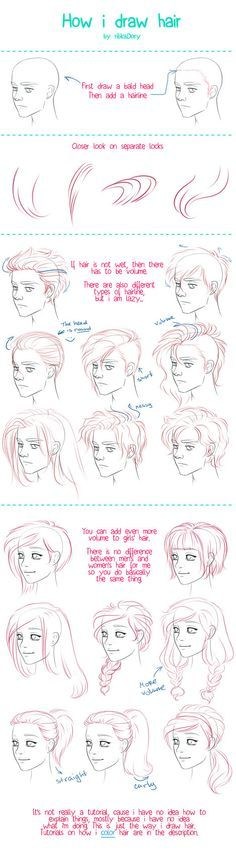 Draw Hair by =ribkaDory on deviantART (btw, why the woman smiles and the guy is blanko/angry-ish?)