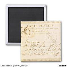 Carte Postale 2 Inch Square Magnet