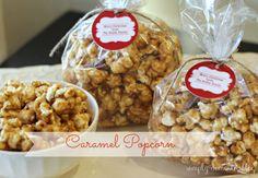 Mom's Caramel popcorn recipe, Simply Domestic blog