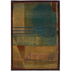 Home Decorators Collection Wisdom Multi 6 ft. 7 in. x 9 ft. 1 in. Area Rug Rectangular Rugs, Rug Size, Size 2, Wool Area Rugs, Blue Area Rugs, Warm Colors, Vivid Colors, Rich Colors, Construction Machines