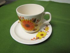 vintage ROMANIA Cup and Saucer Set *** # 30 ** by mauryscollectibles on Etsy