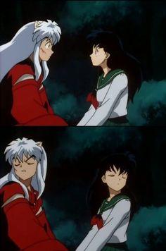 Inuyasha and Kagome Amor Inuyasha, Inuyasha Anime, Inuyasha Fan Art, Kagome And Inuyasha, Kagome Higurashi, Inuyasha Funny, Old Anime, Manga Anime, Anime Art