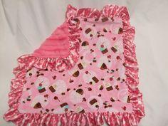 Who loves Cupcakes Blanket. $66.00, via Etsy.