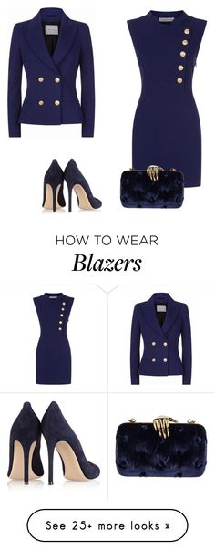 """Без названия #3519"" by xeniasaintp on Polyvore featuring Pierre Balmain, Gianvito Rossi and Benedetta Bruzziches"