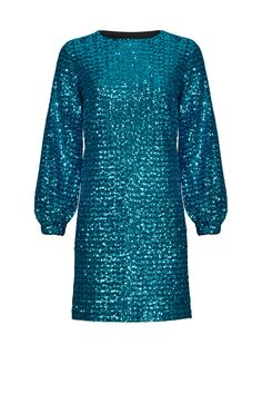 Rent Blue Sequin Shift by Hunter Bell for $85 only at Rent the Runway.