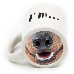 Ceramic Drinkware Cartoon Dog Nose Coffee Mug