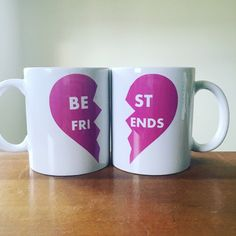 A personal favorite from my Etsy shop https://www.etsy.com/listing/269533093/best-friends-coffee-mug-set-custom-best