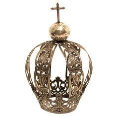 1stdibs - Large 19thC Spanish Colonial Silver Santos Crown explore items from 1,700  global dealers at 1stdibs.com