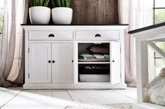⚜️ Add charm to your home with NovaSolo Halifax Contrast Pure White Mahogany Wood Sideboard Dining Buffet With Storage And 2 Drawers from Hallway Sideboard, Solid Wood Sideboard, Large Sideboard, Sideboard Buffet, Walnut Sideboard, White Buffet Table, Dining Room Buffet, Black Buffet, Buffet Tables