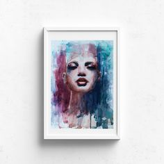 Grows Through Challenge – Claire Gunn - Watercolour Painting Abstract portrait of a woman's face. Abstract Portrait, Woman Face, Watercolour Painting, Claire, Original Artwork, Fine Art Prints, Challenges, Illustration, Artist