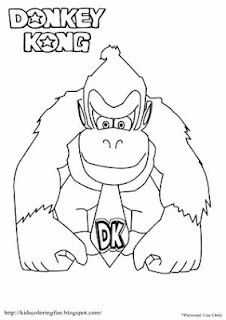 Donkey Kong Coloring Pages Pinteres