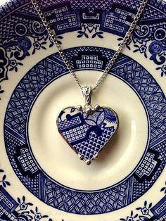 Broken china heart