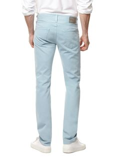 AG ADRIANO GOLDSCHMIED  Matchbox Slim Straight Twill in Blue Blaze