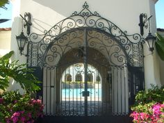 beautiful wrought iron gate