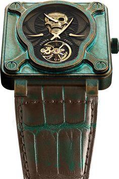La Cote des Montres : La montre Bell & Ross BR01 Skull Bronze Tourbillon Only Watch 2015 - Une pièce unique pour Only Watch