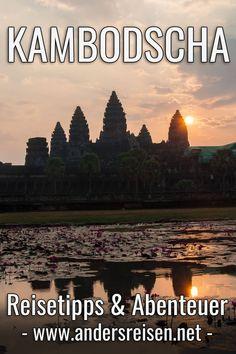 Du planst eine Kambodscha Reise? Im Andersreisen Blog findest Du viele Kambodscha Reisetipps und abenteuerliche Reiseberichte für Südostasien. Aufs Bild klicken und weiterlesen. #kambodscha #reiseblog #abenteuer #suedostasien Phnom Penh, Angkor, Asia, Wanderlust, Highlights, Movie Posters, Happiness, Lovers, Travel
