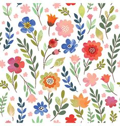 Floral seamless pattern vector 4383259 - by Lenlis on VectorStock®