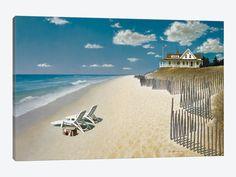 """Beach House View I by ZhenHuan Lu Canvas Print 40"""" L x 26"""" H x 0.75"""" D"""