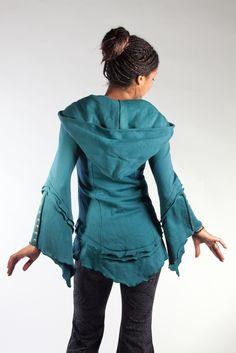 Organic Teal Short Kebaya | Phoenix Rising Designs