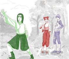 Neji and Lee switched personalities