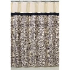 @Overstock.com - Sweet Jojo Design Safari Shower Curtain - This designer shower curtain features a unique animal print that adds a touch of style and a splash of color to the bathroom. The curtain is composed of polyester and is machine washable.  http://www.overstock.com/Bedding-Bath/Sweet-Jojo-Design-Safari-Shower-Curtain/7588131/product.html?CID=214117 $39.99