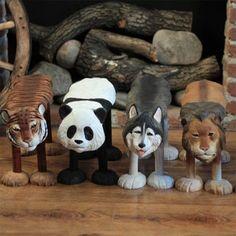 实木手工雕刻换鞋凳动物换鞋凳 儿童矮凳 实木板凳家居凳